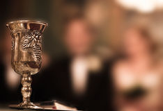 Ceremony wine glass. A glass of wine at the church Stock Photo