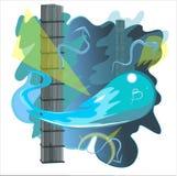 Cerenkov utstrålning i vatten Arkivbild