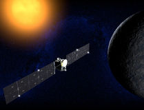 Ceres, a dwarf planet, Dawn probe Stock Images