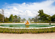 Ceres Fountain at Parterre Garden in Aranjuez Royalty Free Stock Photo