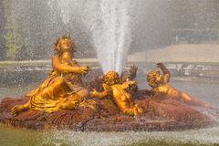 Ceres fountain spraying water in Versailles Royalty Free Stock Photo