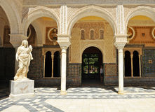 Ceres, marble sculpture, Palace House of Pilate, Sevilla, Spain Stock Photos