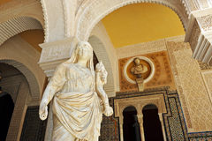 Ceres, marble sculpture, Palace House of Pilate, Sevilla, Spain Stock Image