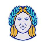 Ceres Roman Agricultural Deity Mascot illustrazione vettoriale