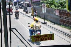 8/28/18 Ceres a viagem Dumaguete do ônibus a Bayawan Filipinas foto de stock royalty free
