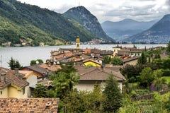 Ceresio lake Ticino, Switzerland Stock Photos