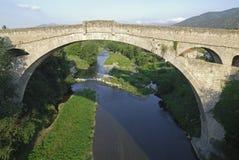 Ceret (France), old bridge Stock Photography