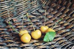 Cereza blanca Foto de archivo libre de regalías