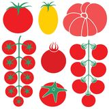 Cereza del tomate Imagen de archivo libre de regalías