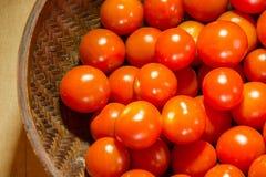 Cereza del tomate Imagenes de archivo
