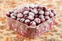 Cereza dulce congelada Imágenes de archivo libres de regalías