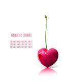 Cereza en forma de corazón Fotografía de archivo libre de regalías