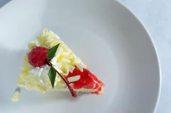 Cereza en la torta Imagenes de archivo