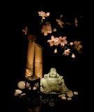 Cereza floreciente y el Buddha Fotografía de archivo libre de regalías