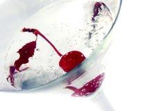 Cereza martini Fotos de archivo