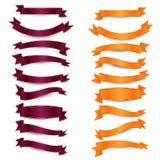Cereza vacía y cintas anaranjadas Imagen de archivo libre de regalías