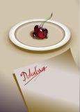 Cerezas con el chocolate Fotografía de archivo libre de regalías