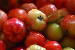 Cerezas dulces como marco completo del fondo Foto de archivo libre de regalías