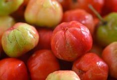 Cerezas dulces como marco completo del fondo Imagen de archivo libre de regalías