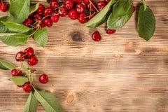 Cerezas dulces frescas fotografía de archivo libre de regalías