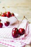 Cerezas dulces rojas Fotografía de archivo libre de regalías
