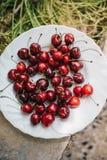 Cerezas frescas deliciosas del od del grupo Imágenes de archivo libres de regalías