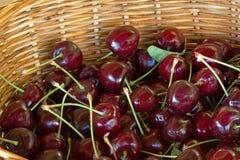 Cerezas rojas maduras Imagenes de archivo
