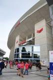 Cerezo Osaka Soccer teamventilators bij Yanmar-Stadion Nagai, Osaka Japan Royalty-vrije Stock Foto