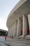 Cerezo Osaka Soccer teamventilators bij Yanmar-Stadion Nagai, Osaka Japan royalty-vrije stock foto's