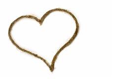 Cerf de valentine de corde sur le blanc Images libres de droits