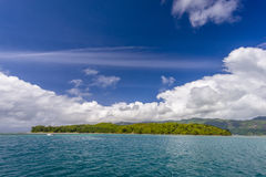Cerf Island. Ile au Cerf lies 4 km off the northeast coast of Mahé in the Seychelles near national marine park Stock Images
