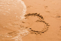 Cerf sur la plage images stock