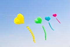 Cerf-volant coloré de coeur d'amour Photos libres de droits