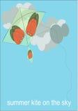 cerf-volant d'été sur le ciel Photographie stock libre de droits