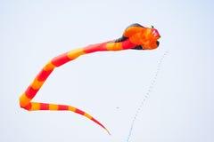 Cerf-volant de fantaisie de vol Photographie stock libre de droits