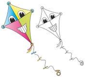 Cerf-volant de sourire de dessin animé Photo stock