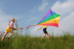 Cerf-volant de vol Images libres de droits