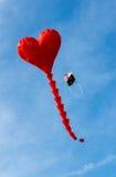 Cerf-volant en forme de coeur Images stock