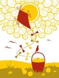 Cerf-volant et fruit Photo stock