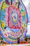 Cerf-volant géant, tout le jour de saints, Guatemala Photo stock