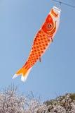 Cerf-volant japonais de carpe photo libre de droits