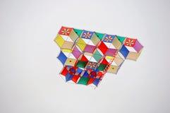 Cerf-volant multi de couleur Images libres de droits