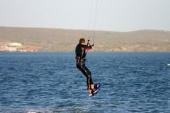 Cerf-volant surfant 5 images stock