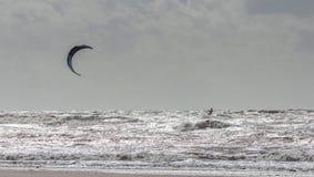 Cerf-volant surfant Lancashire Photo stock