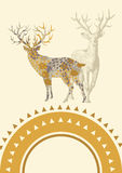 Cerfs communs - âme de forêt illustration de vecteur