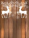 Cerfs communs avec de grands klaxons et décorations pour le beau desi de vacances Image stock