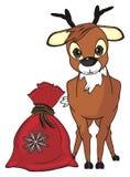 Cerfs communs avec le sac Images stock