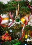 Cerfs communs décoratifs de Noël Image stock