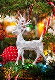 Cerfs communs décoratifs de Noël Images stock