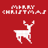 Cerfs communs d'art de pixel Photo stock